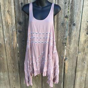 Free people blush pink trapeze dress
